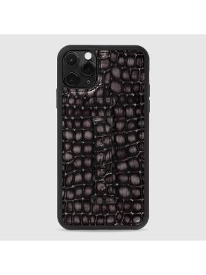 غطاء جوال ايفون 11 برو ماكس مع حامل الاصبع  (ميلانو) - رمادي